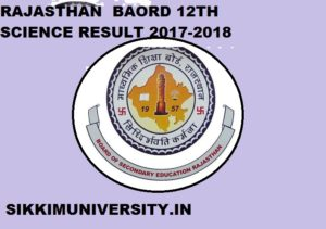 Rajasthan Board 12th Science Result 2020 : Rajresults.nic.in Declare Science Result 2020 Date 1