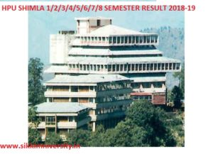 HPU Shimla 1/2/3/4/5/6/7/8 EVEN/ODD Semester Result 2020 at Hpuniv.nic.in 1