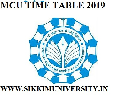 MCU Bhopal Time Table/Date sheet 2019-20 - Makhanlal University PG