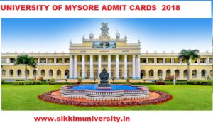 Mysore University Online Admit Cards 2020 Available Now Download at Uni-mysore.ac.in 1