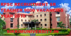 RPSC Recruitment 2018 Online Application form for 9000 Sr. Teacher Vacancies 1