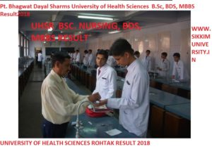 UHSR April/May Result 2020 - Pt. Bhagwat Dayal Sharma University of Health Science Part I, II, III May Result 2020 1