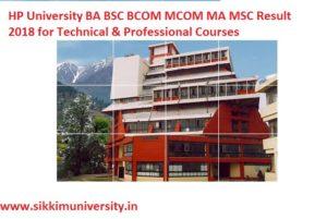 HP University Result 2020 Part 1/2/3 Year B.Com, B.Sc, BA Exam @hpuniv.nic.in 1