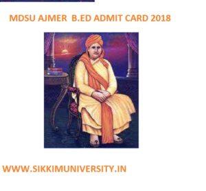 MDSU B.Ed  Hall Ticket 2020 Download Bachelor of Education Exam Schedule 1