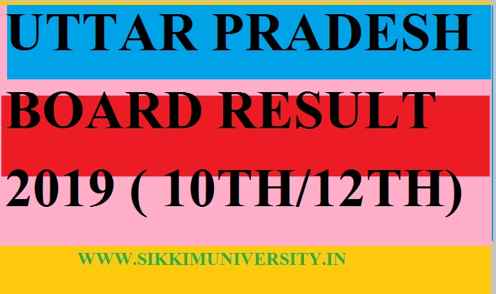UP Board Result/Marks Sheet March 2019 - UP 12th Merit list/ Result