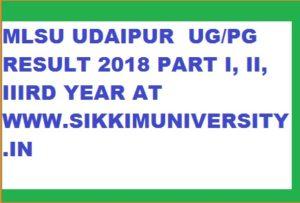 MLSU Result 2020 Part Ist, 2nd, 3rd Year BA BSC BCOM MA MSC MCOM Name Wise 1