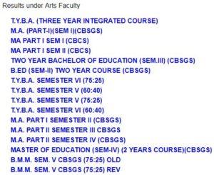 Mumbai University BA FY, SY, TY Results 2021-20 - MU Mumbai Results TY BA Exam 2