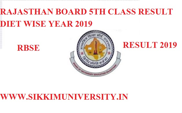 OUT} Rajasthan Board DIET 5th Result 2019 Name Wise/Roll Number wise