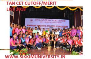 TAN CET Merit List/Cutoff Marks 2019, Tamil Nadu  CET Score Card, TANCET Cutoff 2019 1