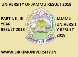 University of Jammu Result 2020 Part Ist, 2nd, 3rd/Final year BSC, MA, BCOM, BA MSC, MCOM Exam 1