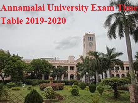 Annamalai University Schedule 2020 Date sheet Download PDF 1