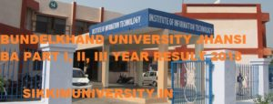 BU Jhansi BA Ist, 2nd, 3rd Year Results 2020,  Bundelkhand University BA BSC  BCOM Part 1/2/3 Result 2020 1
