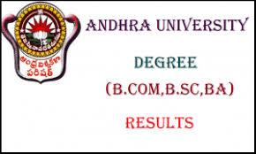 Andhra University UG PG Results 2018