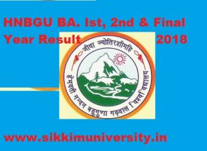 HNBGU BA Ist, 2nd, 3rd Year Result 2020, HNBG University BA Part I, II, III Year Result 2020 1
