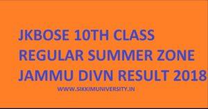 JKBOSE 10th Jammu Divn. Summer Zone Result 2020 Declared @jkbose.jk.gov.in 1