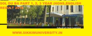 SOL DU BA Ist, 2nd, 3rd Year Result 2021, School Open Learning BA Part 1, 2, 3 Results 2021 1