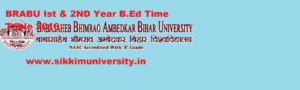 BRABU Part I, II B.Ed Time Table 2021 - Ist and 2nd year B.Ed Exam Routine 2021 @brabu.net 1