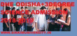 DHE Orissa +3 Degree Science admission form 2018-2019 1