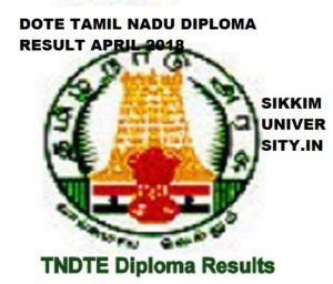 DOTE TN Diploma Results April 2019 - {Declared} TNDTE Polytechnic