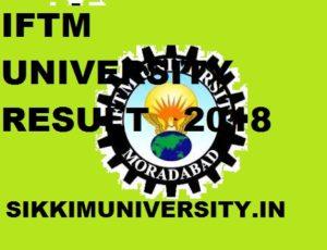 IFTM University Result  2020 Part I, II, III EVEN and ODD Sem Exam Iftmuniversity.ac.in 1
