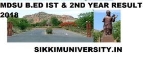 MDSU बीएड परीक्षा परिणाम 2020 for Ist Year and 2nd Year Results Name Wise 1