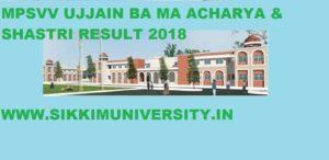 MPSVV Result 2019 for Shastri, MA, BA, Acharya Exam Semester/Annual 1