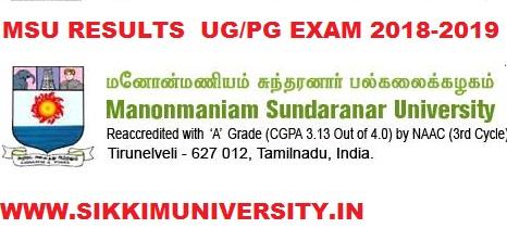 Manonmaniam Sundaranar University BA Ist, 2nd, 3rd Year Result 2021 Regular/Supply 1
