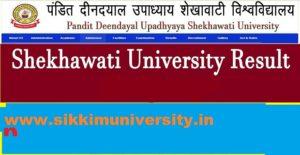 Shekhawati University BA Ist, 2nd, 3rd Year Result 2019