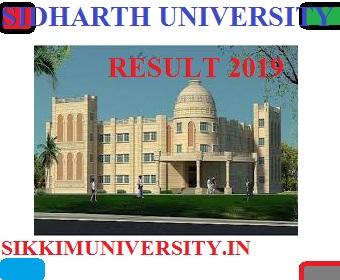 Siddharth University Part I, II, IIIrd Year Results 2021 for BA, BCOM, MA, MSC, BSC Exam 1
