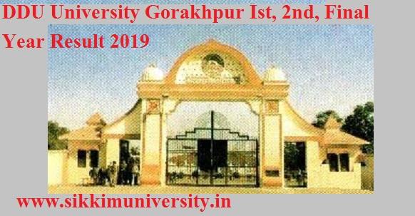 DDU University Gorakhpur Ist, 2nd, Final Year Result 2021 BSC, BA, BCOM, MCOM, MSC Exam 1