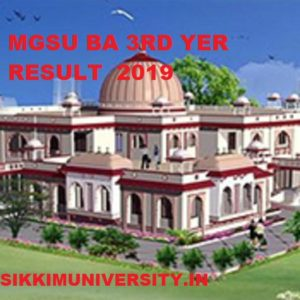 MGSU BA 3rd Year Results 2020 Name Wise, MGS University BA Roll Number Wise Results 2020 1