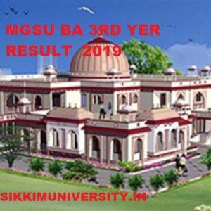 MGSU BA 3rd Year Results 2019 Name Wise, MGS University BA Roll