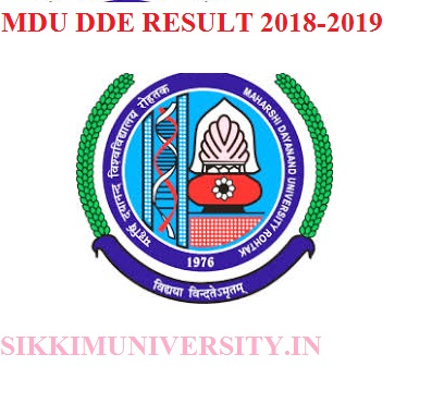 MDU DDE Result 2019-2020 Part 1st, 2nd, 3rd Year BA BCOM BSC Exam 1