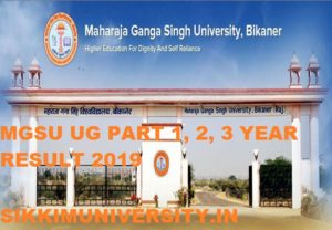 MGSU Result 2020 for Part 1/2/3 Year UG Course by Name wise/roll number wise 1
