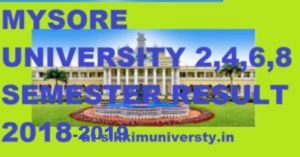 Mysore University 2nd, 4th, 6th Sem. Result 2020, Uni-Mysore.ac.in  BCOM, BA, BSC Part I, II, III Result 2020 1