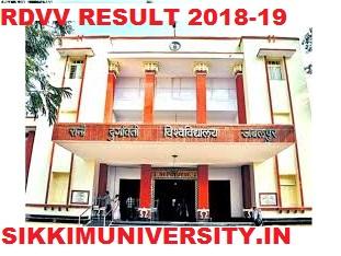 RDVV Private & Regular Results 2021 1/2/3/4/5/6 Semester Result Rdunijbpin.org 1