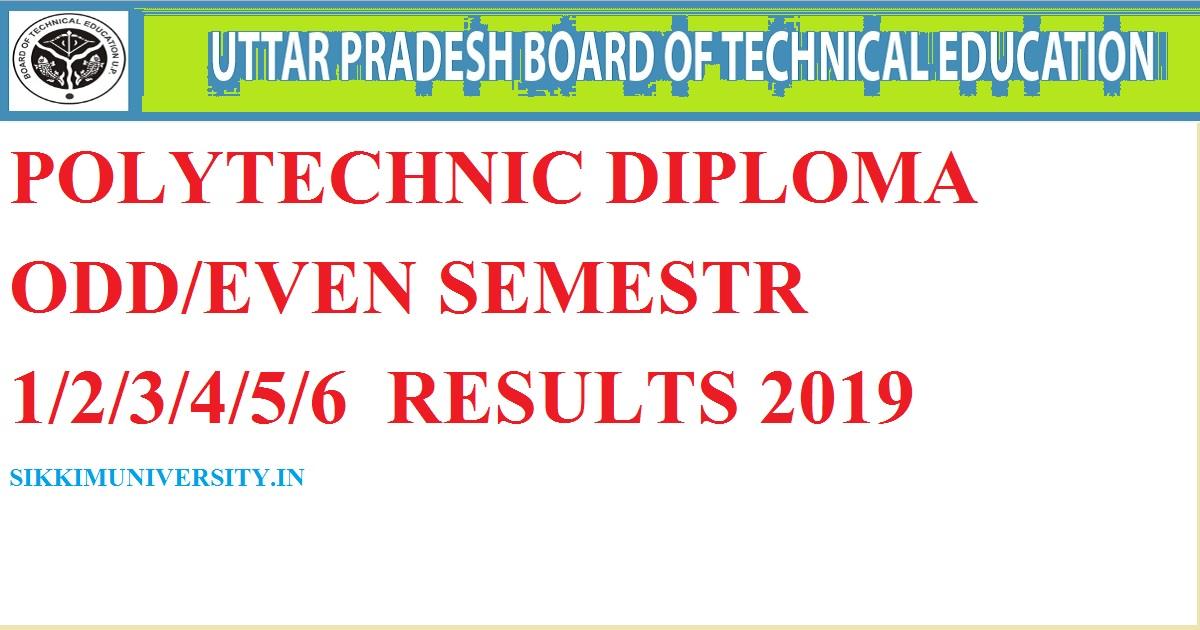 BTEUP Result 2019-2020 – UP Polytechnic Diploma Semester 1st
