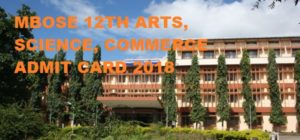 MBOSE 12th Admit Card Arts, Commerce, Science Hall Ticket 2019 Name Wise 1