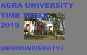 Agra University BA BSC BCOm Exam Schedule 2020 - DBRAU BA BSC BCom  Ist, 2nd, 3rd Time Table 2020 1