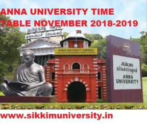 Anna University Time Table November 2020 Exams Ist, 3rd, 5th, 7th Sem (All Branch) 1
