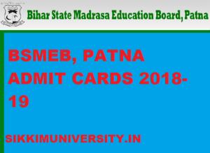 BSMEB Admit Card 2020 April/June Exam www.bsmeb.org 1