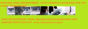 HSSC Gr. D 18218 Posts Bharti / Recruitment 2018 - Haryana Group D Recruitment 2018 for Peon, Beldar,Animal Attendant, Mali & Various Jobs 1