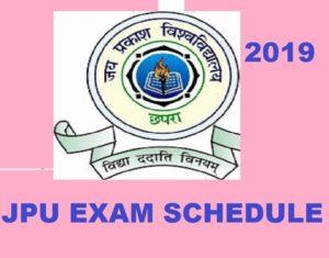 JP University Exam Routine/Date sheet 2021, JPU Chapra Ist, 2nd, 3rd Year Exam Schedule BA BSC BCOM 1