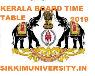Kerala +1 Time Table 2020, Kerala Plus 1 Date sheet/Time Table 2020 1