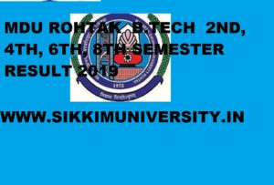 MDU Rohtak B.Tech Result May 2021 for 2/4/6/8 Semester Exam 1