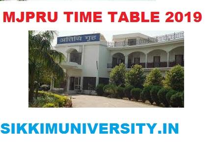 MJPRU Exam Schedule 2019-20 - MJP Rohkilhand University Part I, II, III Year UG Exam Time Table 1