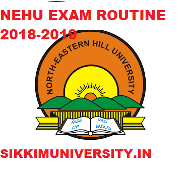 NEHU Exam Schedule 2019-2020, North Eastern Hill University Time Table 2019 Download PDF 1
