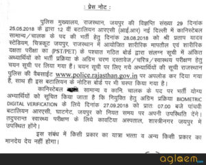 Rajasthan Police Name Wise Constable Result 2021 - Download District Wise Rajasthan Police Constable Scorecard/Merit List 2021 1