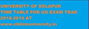 Solapur University Exam Schedule 2021 BA BCOM BSC Exam Date sheet/Routine 1
