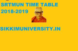 Srtmun Time Table 2018 19 Srtmun 1 3 5 Sem Ba Bsc Bcom Exam